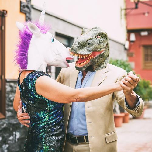 Couple bizarre !