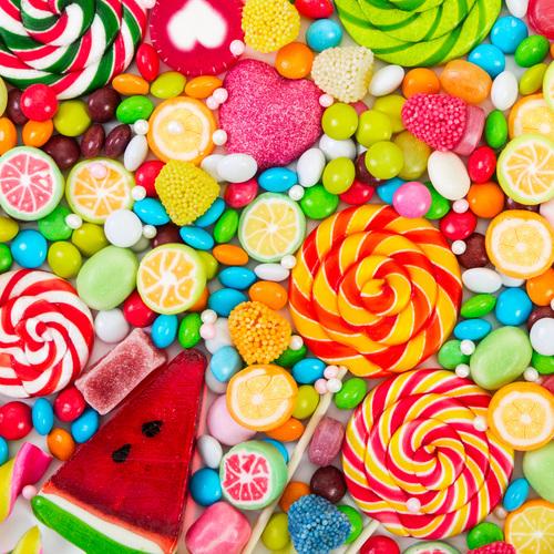 Des bonbons de toute les couleurs