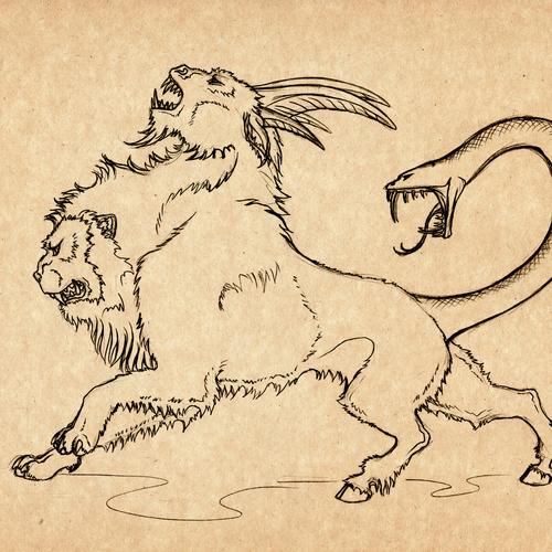 La chimère, créature fantastique de la mythologie