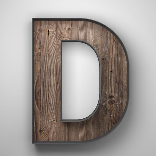 Dé - Lettre D