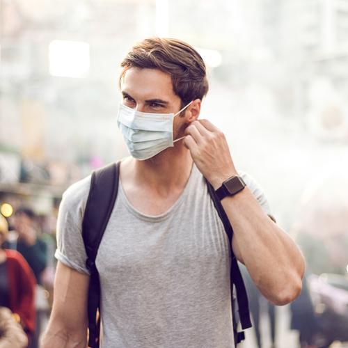 Filtrer les microbes avec un masque ...