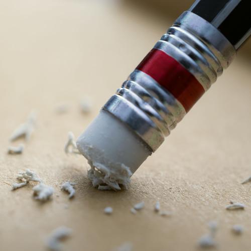 La gomme d'un crayon