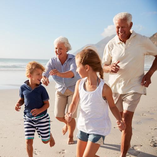 Grands parents et petits enfants