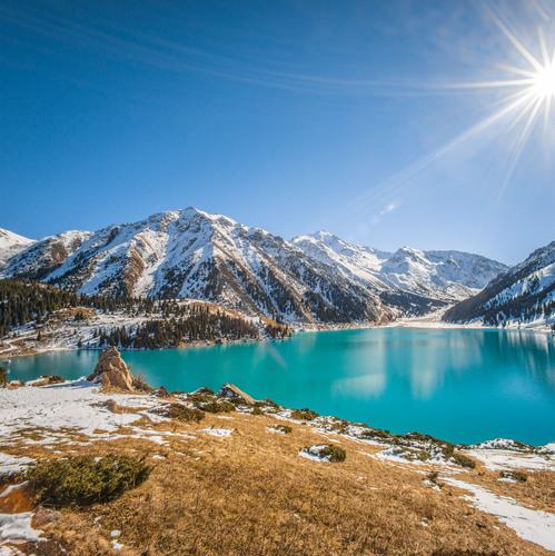 Paysage kazakhstanais