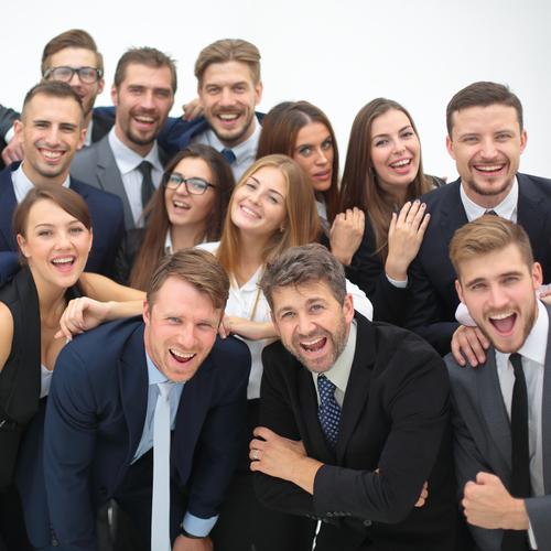 Les employés d'une société