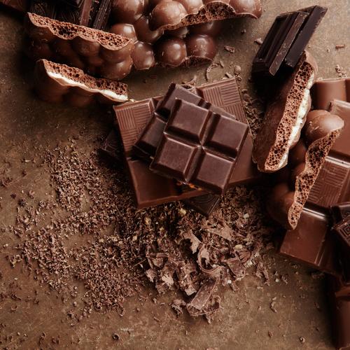 Chocolat de couleur marron