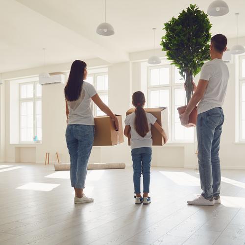 Aménagement dans un appartement neuf