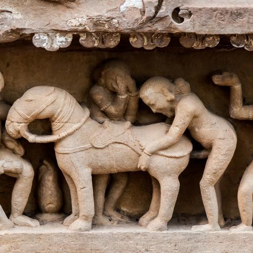 Zoophilie, sculpture indienne